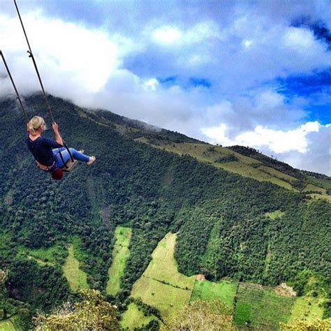 swing ecuador for all adventurers swing at the end of the world