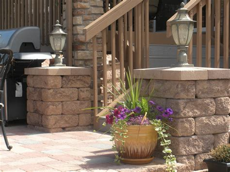 Patio Pillar Lights Posts And Pillars On Patio With Accent Lighting Contemporary Landscape Minneapolis By