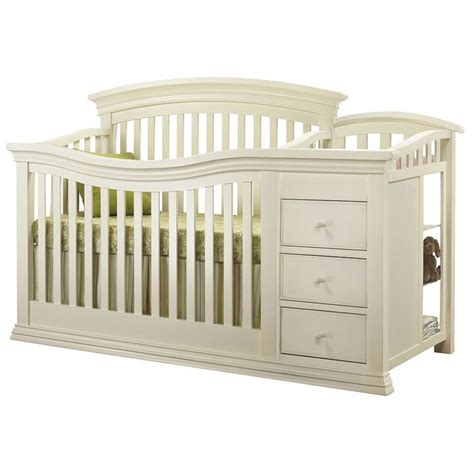 convertible crib changer sorelle furniture verona crib changer in white