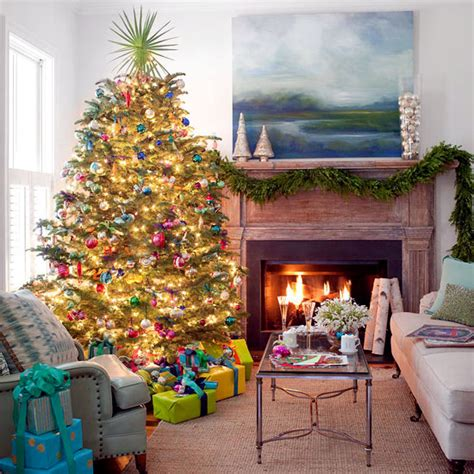 Dining Room Rug Size ideas for a brightly decorated christmas tree with