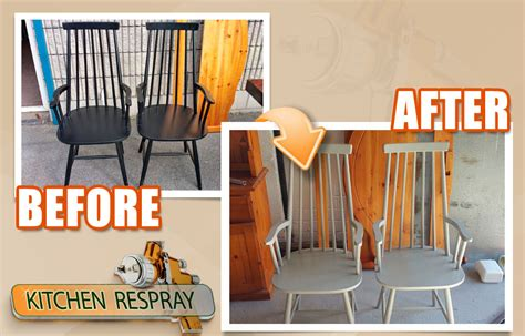 spray painting kitchen chairs furniture respray kitchen respray