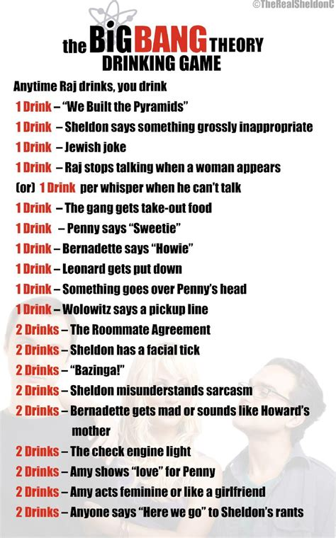 1449363210 theory of fun for game the big bang theory drinking game funny pinterest