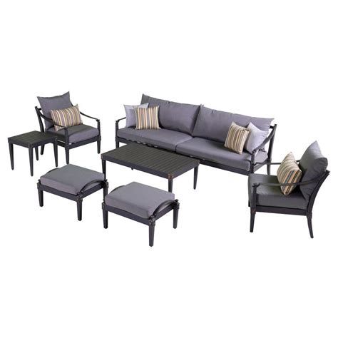deep seating outdoor sofa home decorators collection naples grey 4 piece all weather