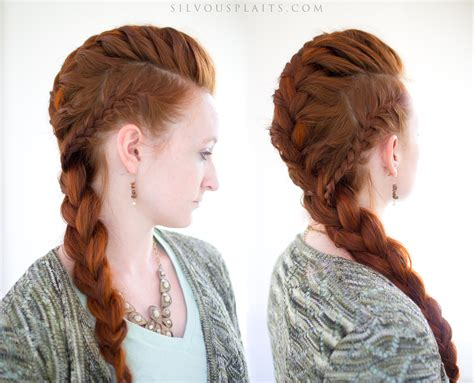 how to do viking hair silvousplaits hairstyling lagertha s vikings french