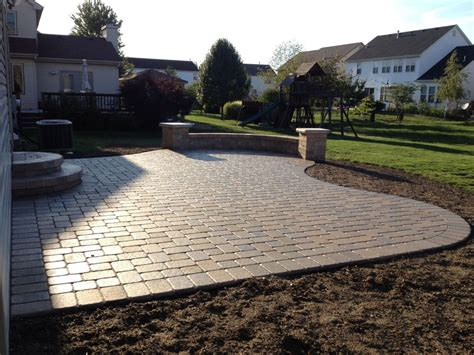 backyard with pavers 24 paver patio designs garden designs design trends