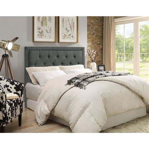 linon home decor clayton charcoal fullqueen headboard