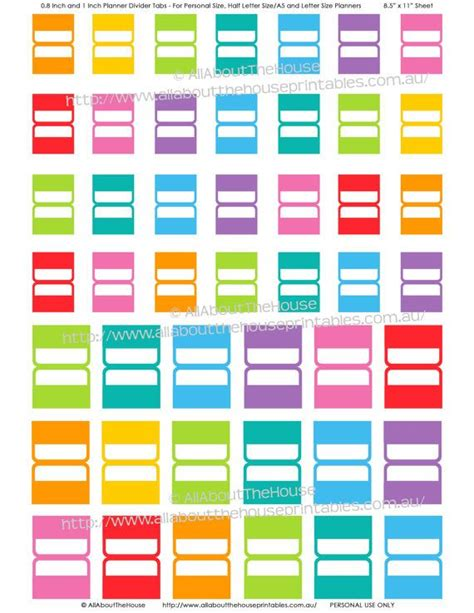 free printable planner tabs 1000 ideas about planner tabs on pinterest planners