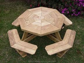 Octagon Patio Table Plans How To Build A Wooden Octagon Picnic Table Woodworking Projects