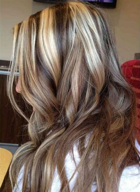 pictures of black hair with platinum highlights 60 great brown hair with blonde highlights ideas