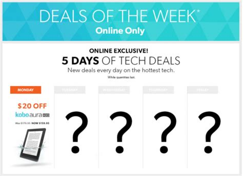 Deal Of The Week 20 At Baker by Chapters Indigo Canada Deals Of The Week 5 Days Of Tech
