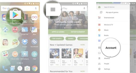 how to sign up for play family library android