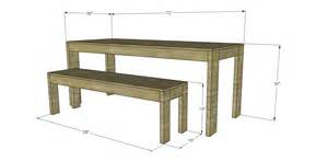 Dining Table Bench Plans Free Plans To Build A West Elm Inspired Boerum Dining Table And Benches