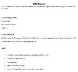lpn resume templates resume objective for lpn resume ideas