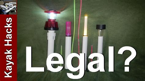 kayak lights for fishing uscg policy on diy kayak navigation lights for fishing