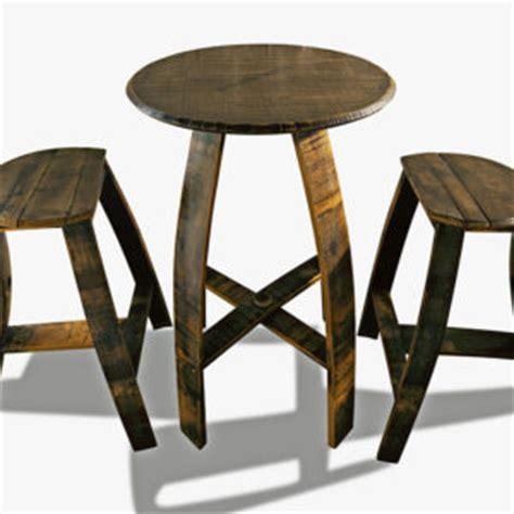 Artisan St 2 Stool by Bar Table 4 Stools Bourbon Barrel Furniture
