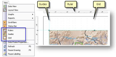 layout toolbar arcgis 10 a quick tour of page layouts help arcgis for desktop