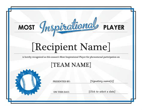 award certificates templates office 2007 most inspirational player award certificate free