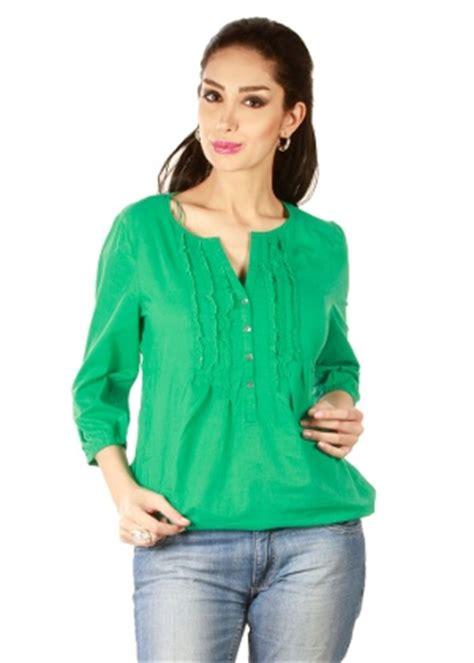 styletoss women's green top homeshop18.com