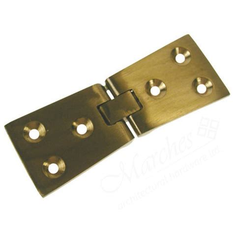 counter flap hinge 102 x 32mm pair polished brass