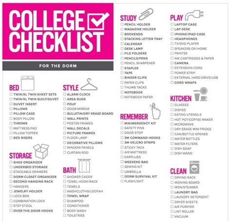 college checklist bed bath beyond images frompo