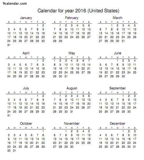 free printable year planner calendar 2016 6 best images of calendar 2016 printable 2016 calendar