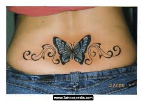 tramp stamp lower back tattoos butterfly tattoo