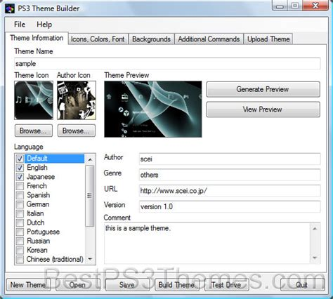 download themes builder create ps3 themes tutorial
