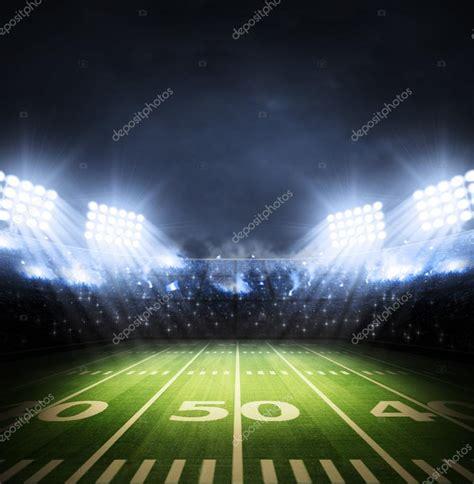 Field Lights by American Football Stadium Stock Photo 53744821