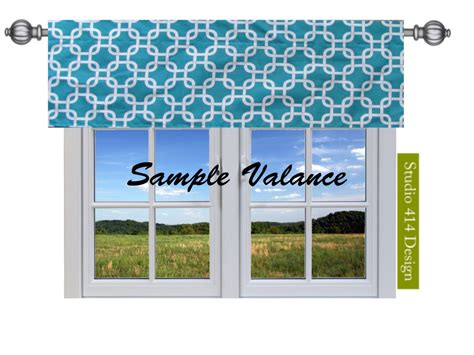 Turquoise Valances For Windows Inspiration Blue Valance Turquoise Valence Blue Window By Studio414design