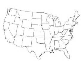 America Map Blank by A Blank Usa Map With States