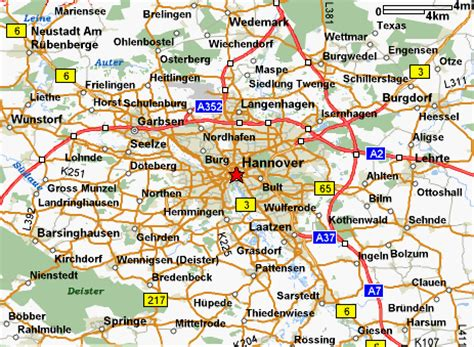 hannover map and hannover satellite image