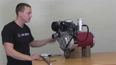 ev west electric motor accessory plate installation power steering vacuum ac