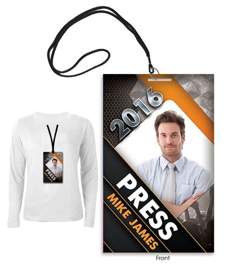 press id card template psd 9 best press pass template images on font logo