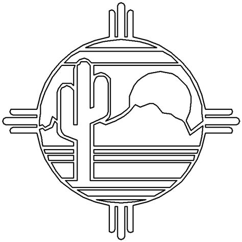 navajo pattern coloring page southwestern native