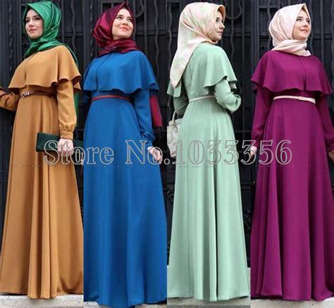 Abaya Dress Kaftan Busana Muslimah Mf 37 2018 new personality cape style abaya turkish