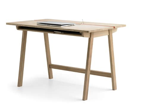 a minimalist desk that hides all your cords design milk minimalist solid oak desk with plenty of storage space by