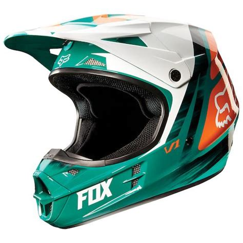 green motocross helmets green orange