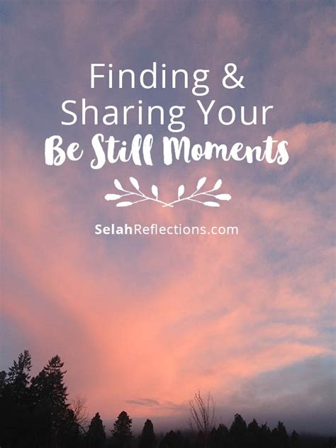 finding selah the simple practice of peace when you need it most books finding your be still moments selah reflections