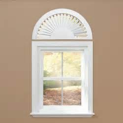 Fan Shades For Arched Windows Designs Home Basics Sunburst White Plantation Arch Shutter For Half Window Decor Ebay