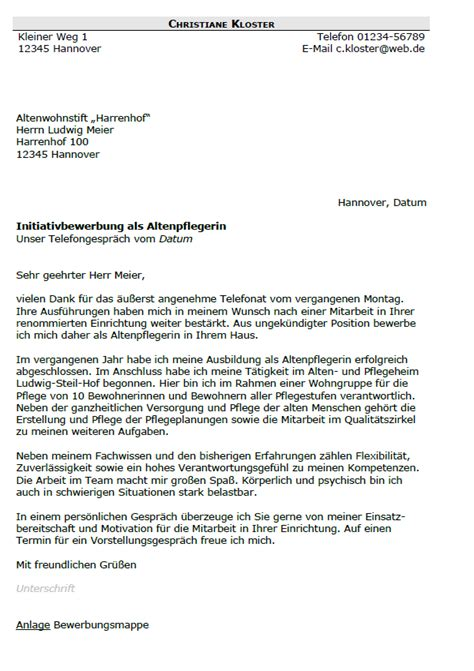 Anschreiben Bewerbung Examinierte Altenpflegerin Bewerbung Altenpfleger Altenpflegerin Berufseinsteiger Sofort