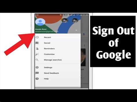 how to sign out of on android how to sign out of account android