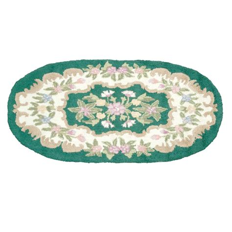 oval hooked rugs wool oval traditional area rug hooked green floral 3 x 5