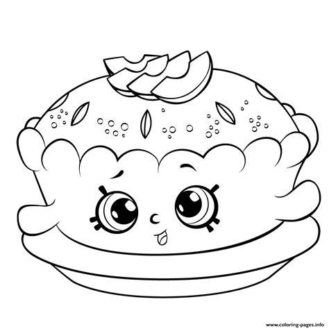 Shopkins Season 6 Apple Pie Coloring Pages Printable Shopkins Season 6 Coloring Pages