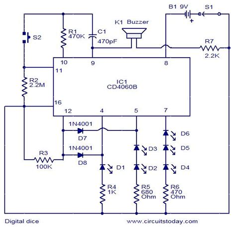 circuit diagrams for digital dice circuit electronic circuits and diagrams