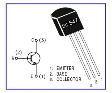 what is the function of bc547 transistor bc547 npn transistor