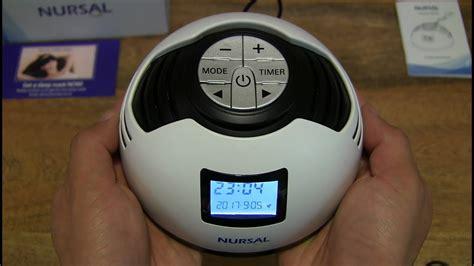 nursal white noise machine alarm clock