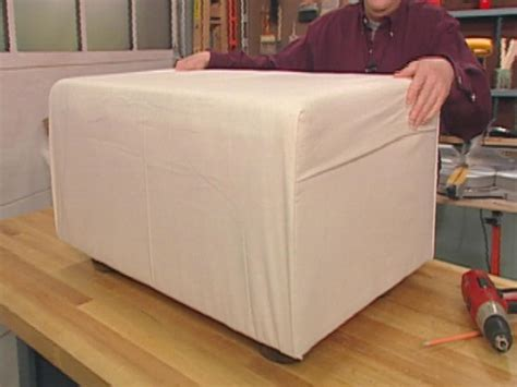 how to make a pouf ottoman how to make a dog ottoman and slipcover hgtv
