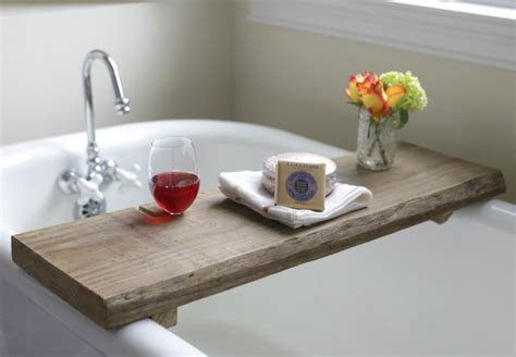 wooden bathtub caddy make this rustic bath caddy from a single board of