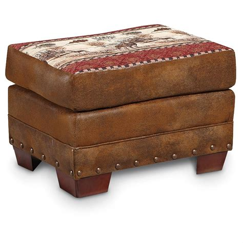 tapestry ottoman american furniture classics majestic deer tapestry ottoman
