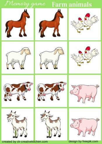 printable animal memory game farm animals memory game free printable creative kitchen